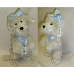 """White Mohair Poodle, 12"""""""
