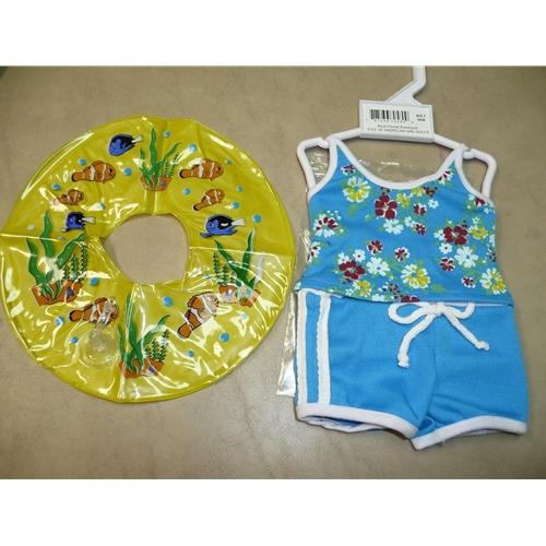 Blue Floral Swim Suit