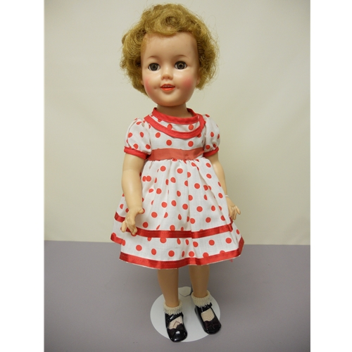 """Shirley Temple, 1957, 17"""" hair trimmed"""