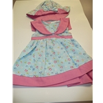 Blue & Pink Floral Print Dress