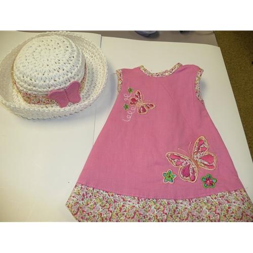 Pink Dress with Butterflies