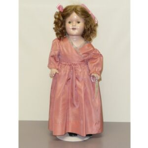 """Shirley Temple Type Compo Doll, 17"""""""