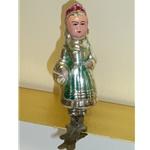 Girl w/Basket Glass Ornament