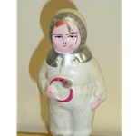 Snow Baby Glass Ornament