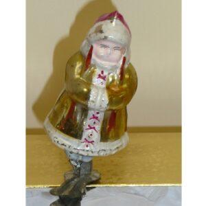 Girl w/Gold Coat Glass Ornament