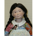 Suzanne Gibson Doll in Patterned Dress