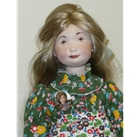 Suzanne Gibson Doll in Green Floral Dress