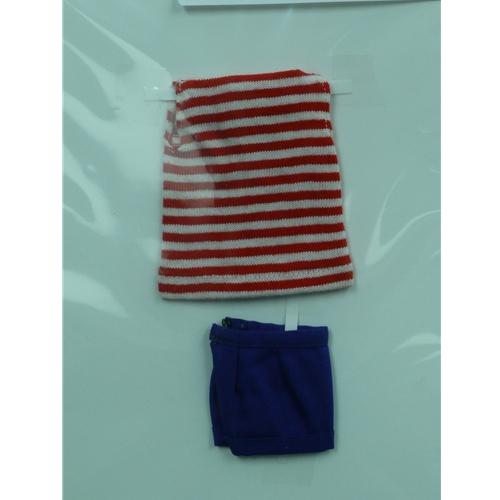 Barbie Red & White Pak Tee Shirt & Blue Shorts