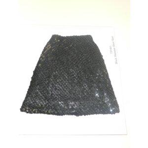 Tyler Black Shimmer Short Skirt