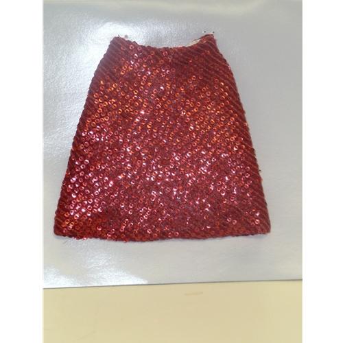 Tyler Red Shimmer Short Skirt