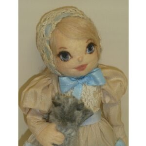 Julie Lawson Girl with a Gray Kitty Cat