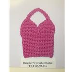Raspberry Crochet Halter Top