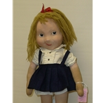 """21.5"""" Cloth Eloise Doll by Bette Gould - Antique Cloth Dolls in Chicago IL"""