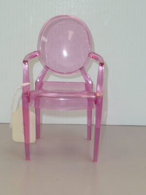Pink Plastic Ghost Chair-0