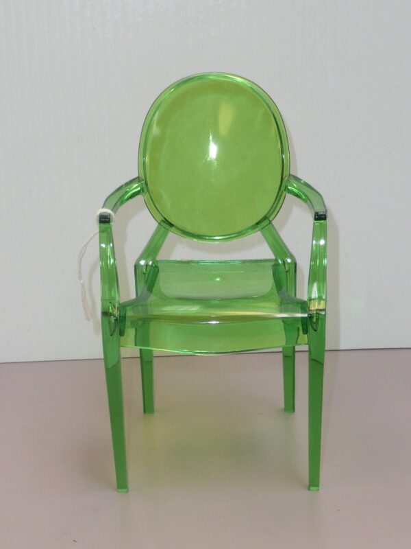 Green Plastic Ghost Chair-0