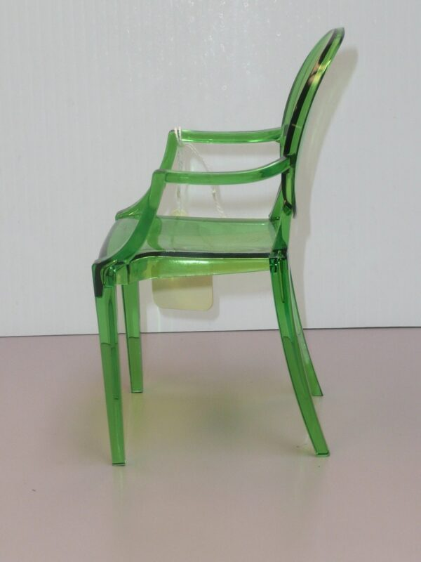 Green Plastic Ghost Chair-15113
