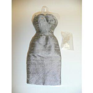 Dressmaker Details Couture Silver Dress