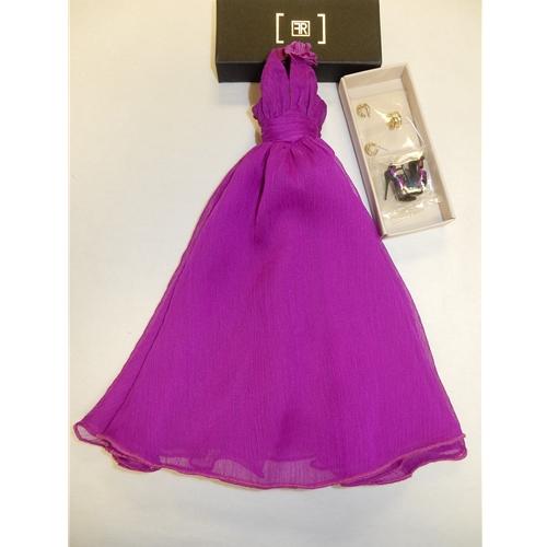 Integrity, FR, Bright Purple Dress, Shoes & Jewelry