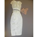 Integrity White Sheath Dress w/Purple Belt & Panties