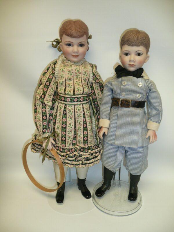 Martha Thompson 1950's Betsy Sheffield & Little Brother, NIADA Doll Artist-12485