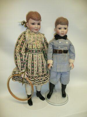Martha Thompson 1950's Betsy Sheffield & Little Brother, NIADA Doll Artist-0