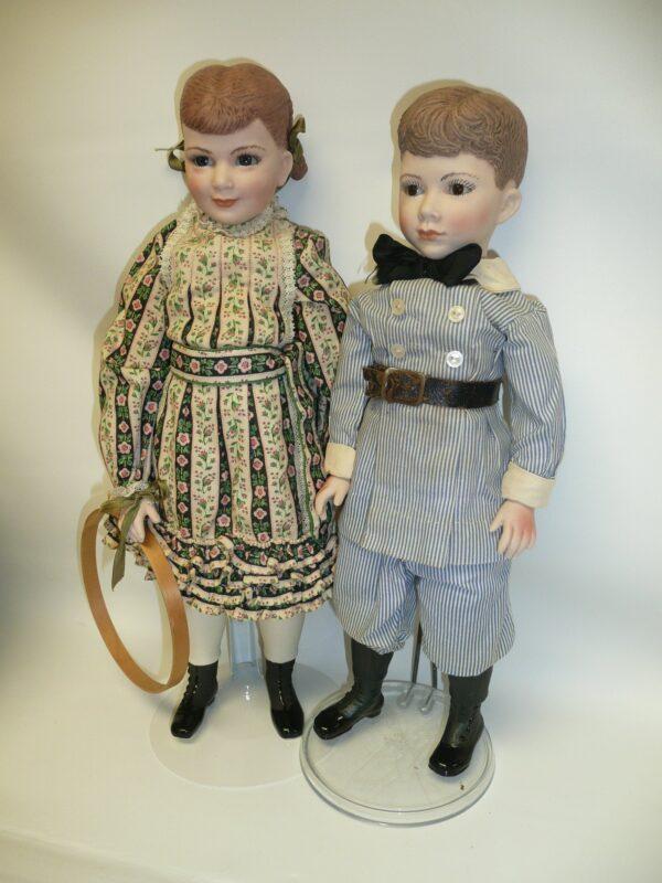 Martha Thompson 1950's Betsy Sheffield & Little Brother, NIADA Doll Artist-12479