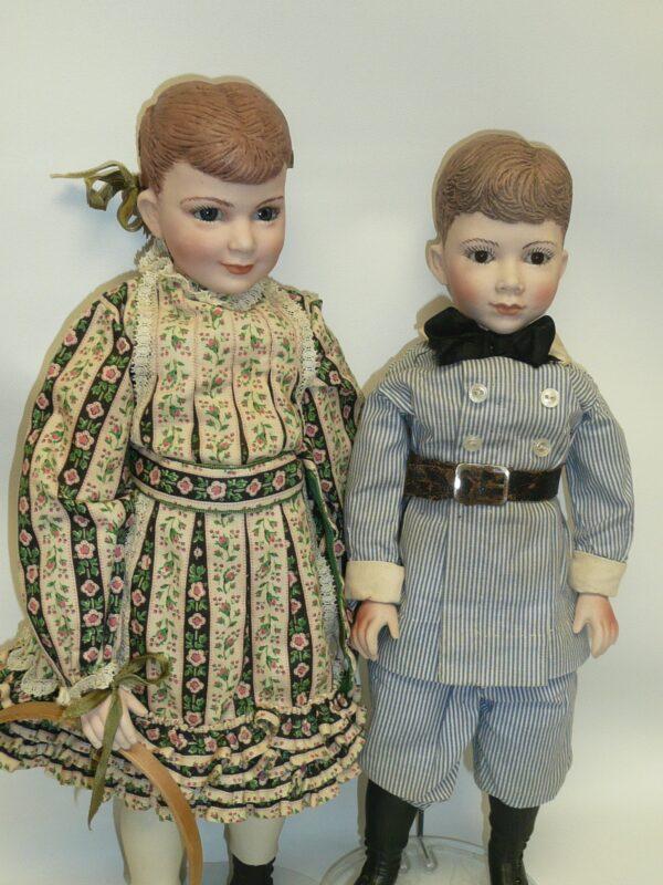 Martha Thompson 1950's Betsy Sheffield & Little Brother, NIADA Doll Artist-12482