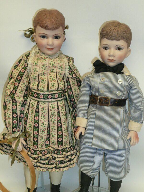 Martha Thompson 1950's Betsy Sheffield & Little Brother, NIADA Doll Artist-12480