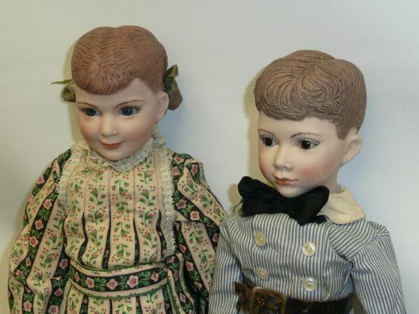 Martha Thompson 1950's Betsy Sheffield & Little Brother, NIADA Doll Artist-12477