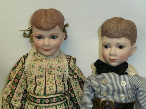 Martha Thompson 1950's Betsy Sheffield & Little Brother, NIADA Doll Artist-12488