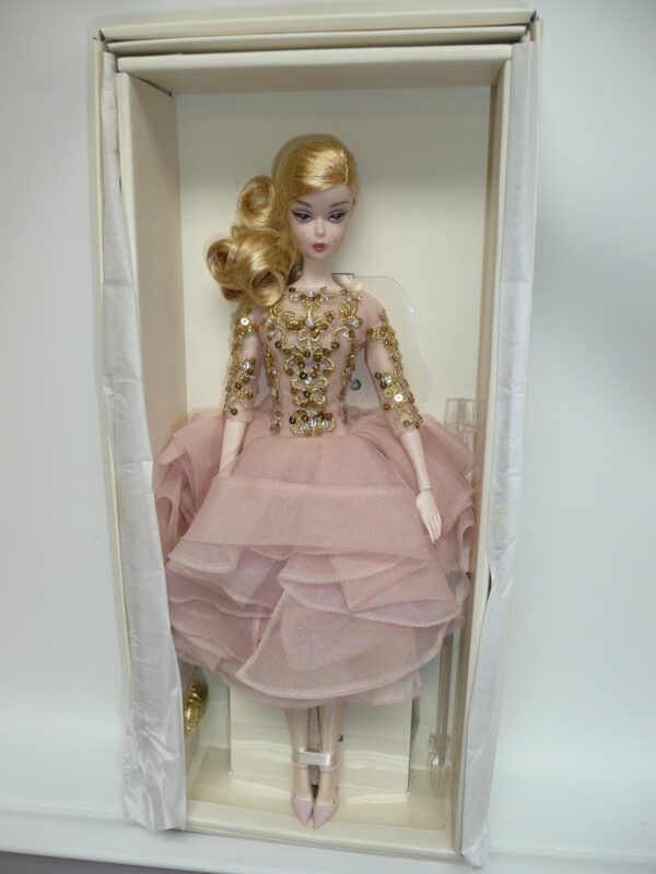 Barbie Silkstone Black & Gold Cocktail Dress-0