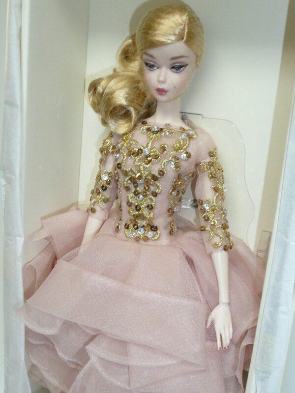 Barbie Silkstone Black & Gold Cocktail Dress-13744