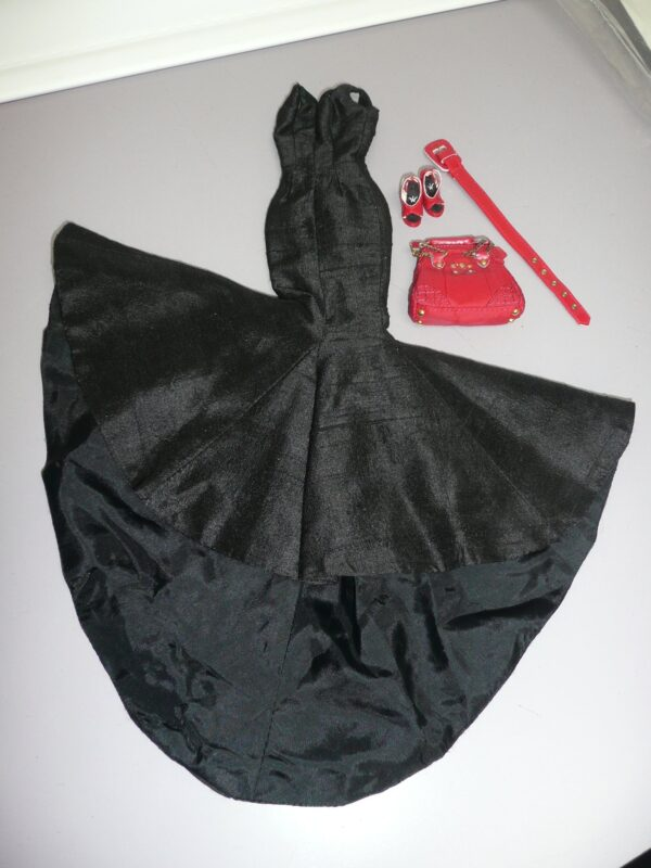 Integrity Black Dress, Red Shoes, Belt & Purse-0