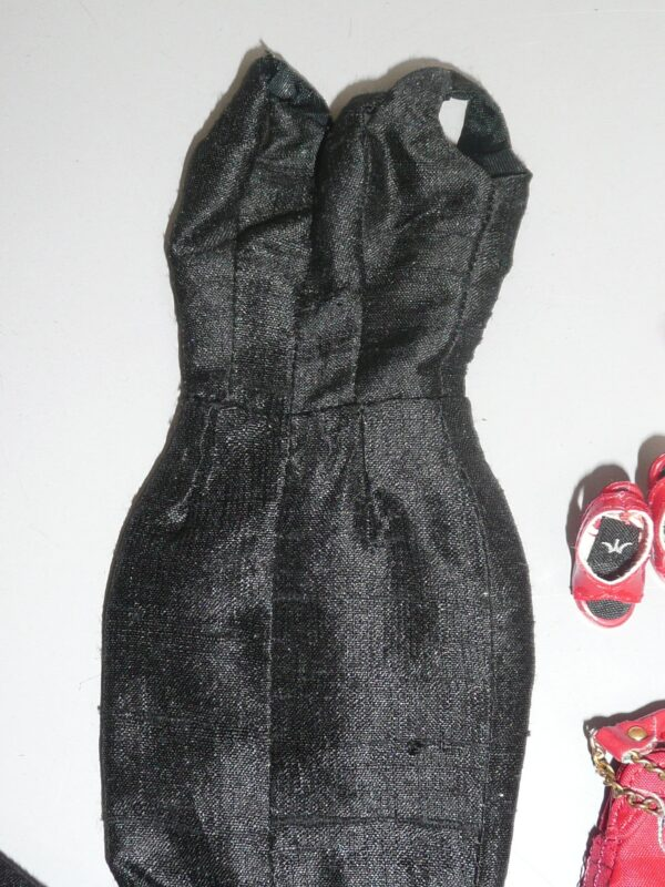 Integrity Black Dress, Red Shoes, Belt & Purse-14362