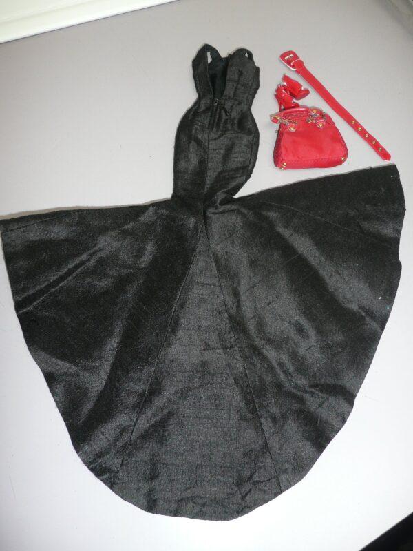Integrity Black Dress, Red Shoes, Belt & Purse-14368