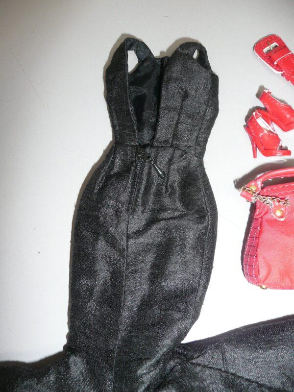 Integrity Black Dress, Red Shoes, Belt & Purse-14365