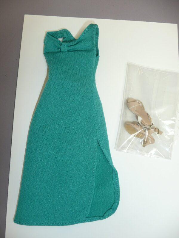 Integrity Aqua Green Dress & Beige Shoes-14419