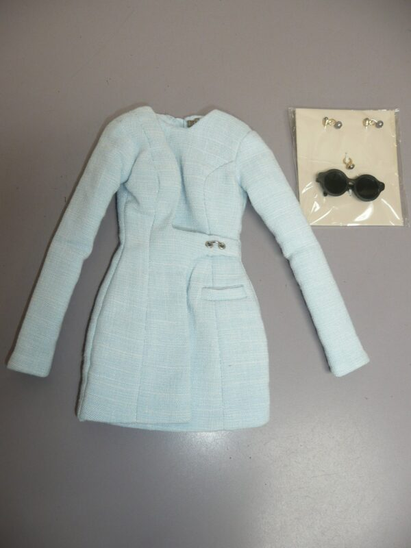 Integrity Pale Blue Coat w/Sunglasses and Jewelry-0