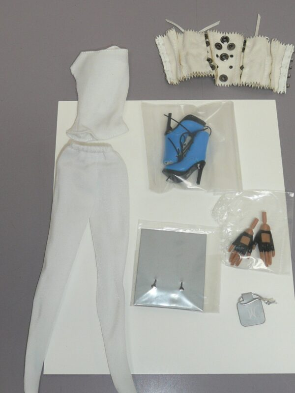 Integrity White Shirt, Bustier & Pants, Blue Shoes, Pair of Hands-14411