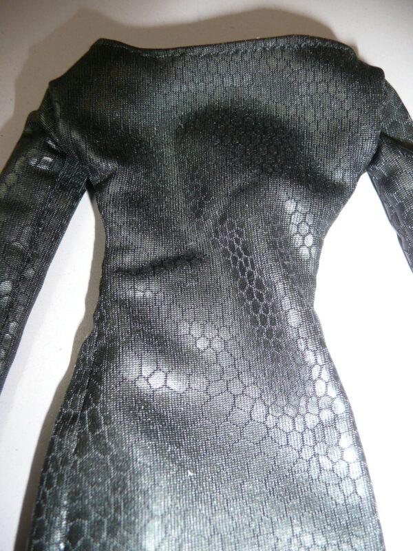 Karen Kolkman OOAK Black Dress, Panties & Shoes, Fits Integrity -14785