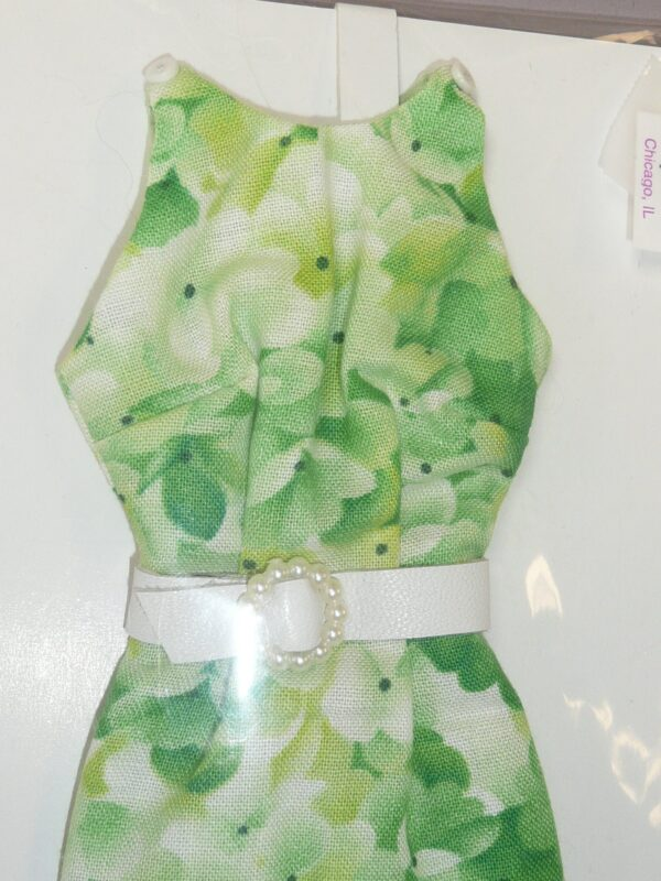 Green Floral Print Dress, Fits Integrity Dolls-14871