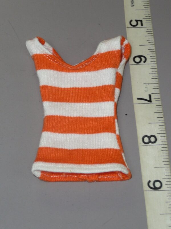 Orange & Whited Striped Tank Top, Fits Integrity-0
