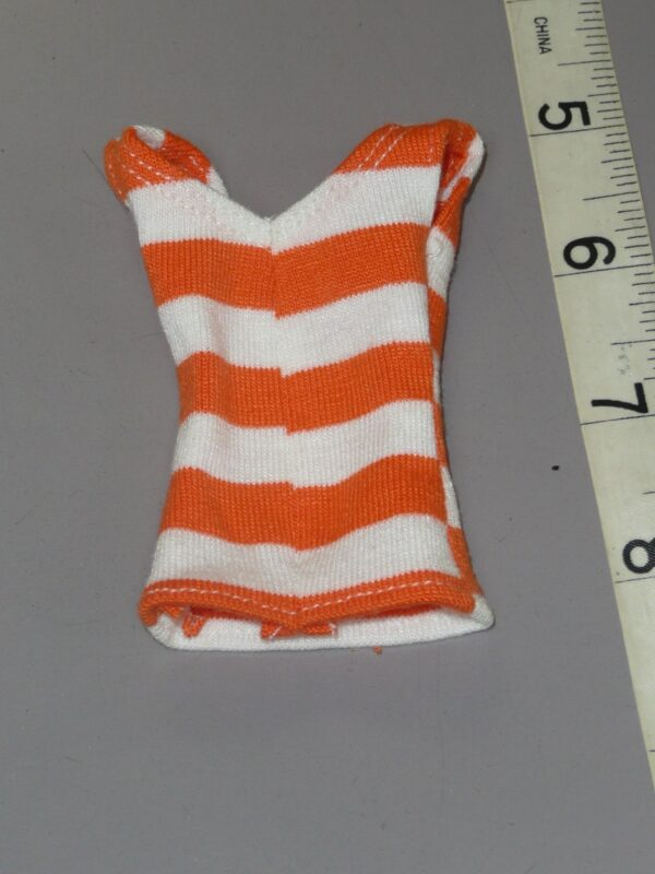 Orange & Whited Striped Tank Top, Fits Integrity-14939