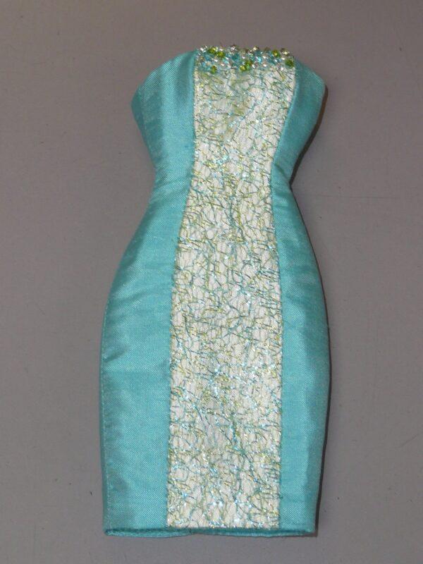 Aqua Randall Craig Sheath Dress, Fits Integrity Dolls-0