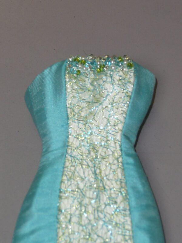 Aqua Randall Craig Sheath Dress, Fits Integrity Dolls-14928