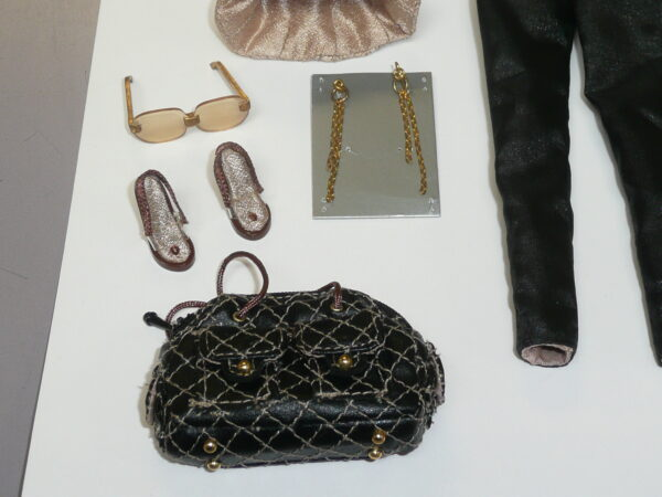 Integrity Gold Jacket, Bustier & Black Pants, Bag, Shoes, Jewelry & Glasses-14941