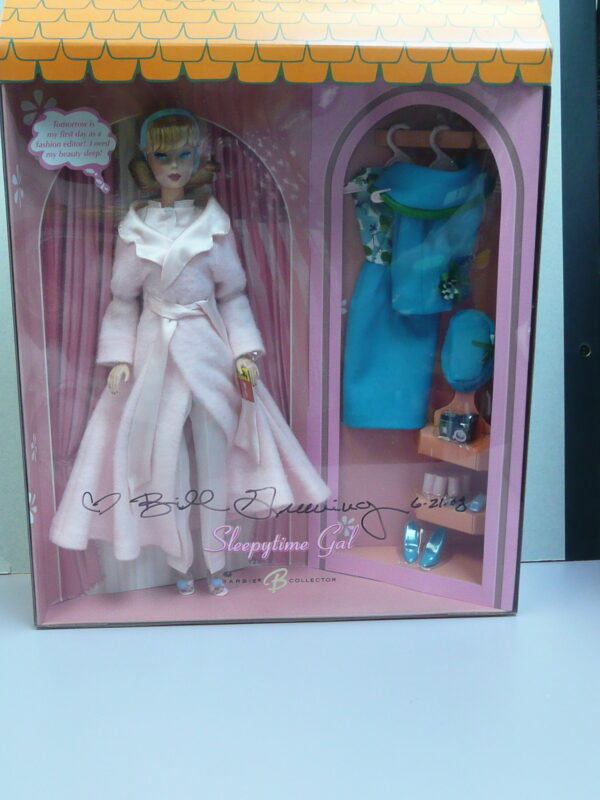 Barbie Sleepytime Gal, Box Signed by Bill Greening